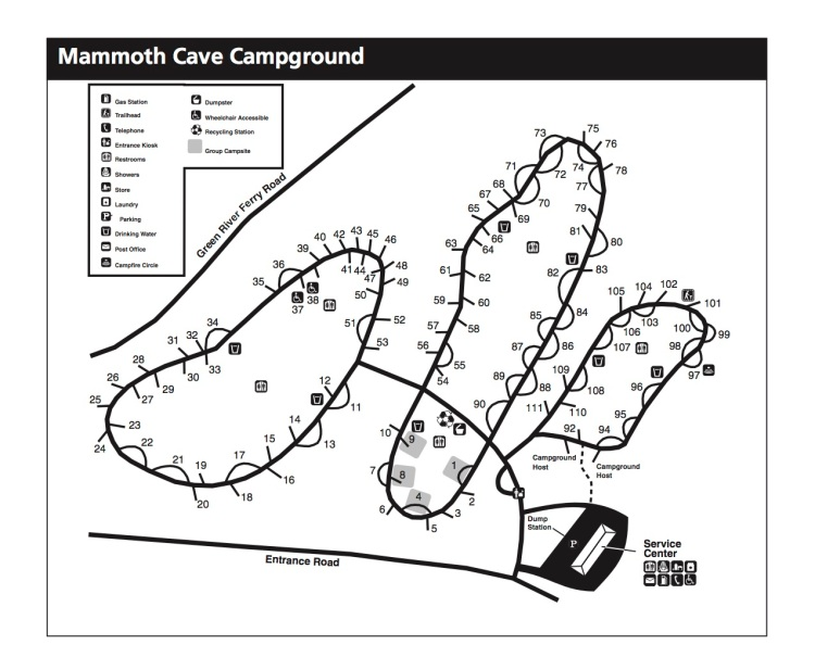 Map-Mammoth-Cave-Campgrouund