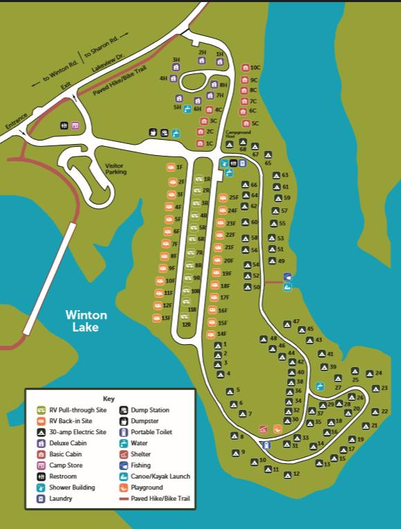 winton-woods-campground-cincinnati-oh-map